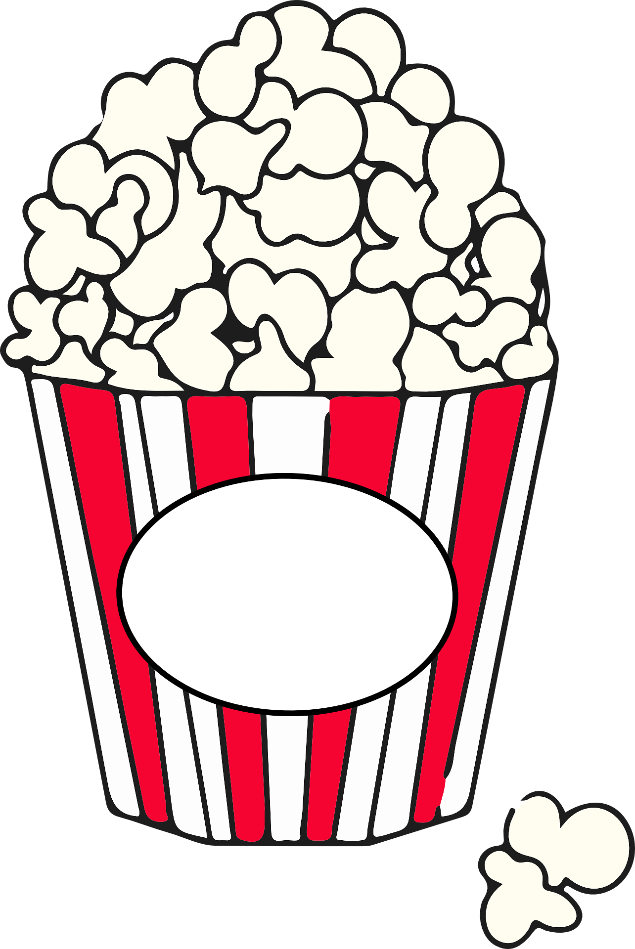 Cartoon image of popcorn